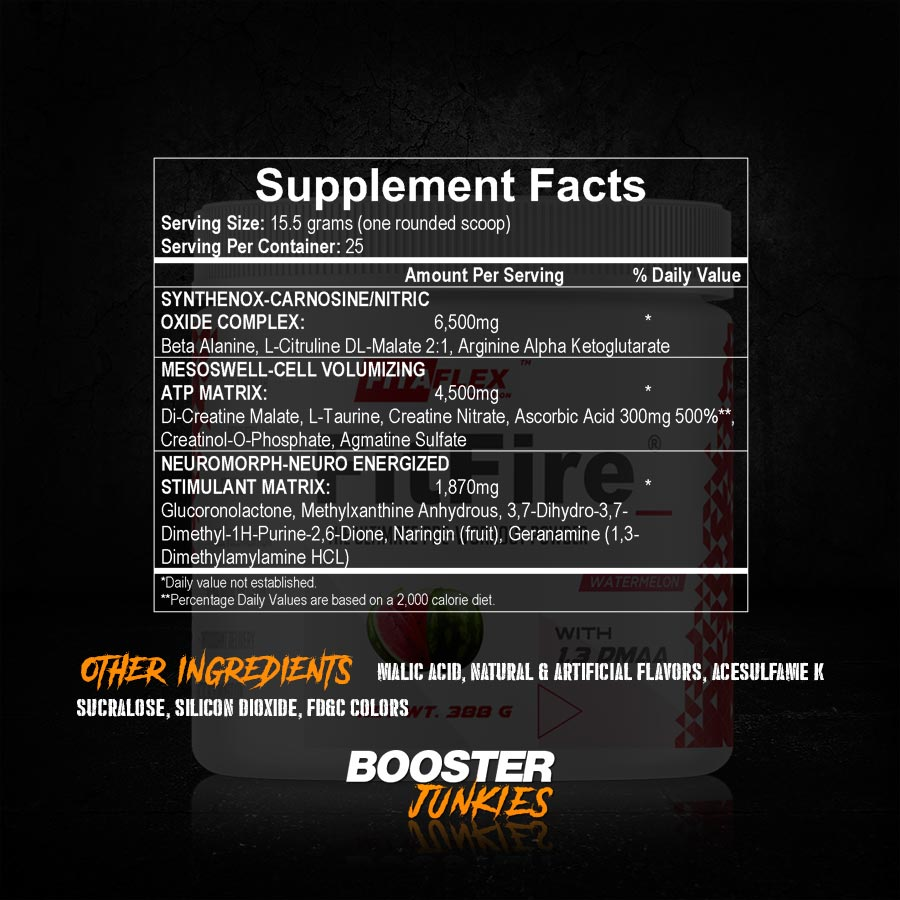 Fitaflex Nutrition Fitfire Supp Facts