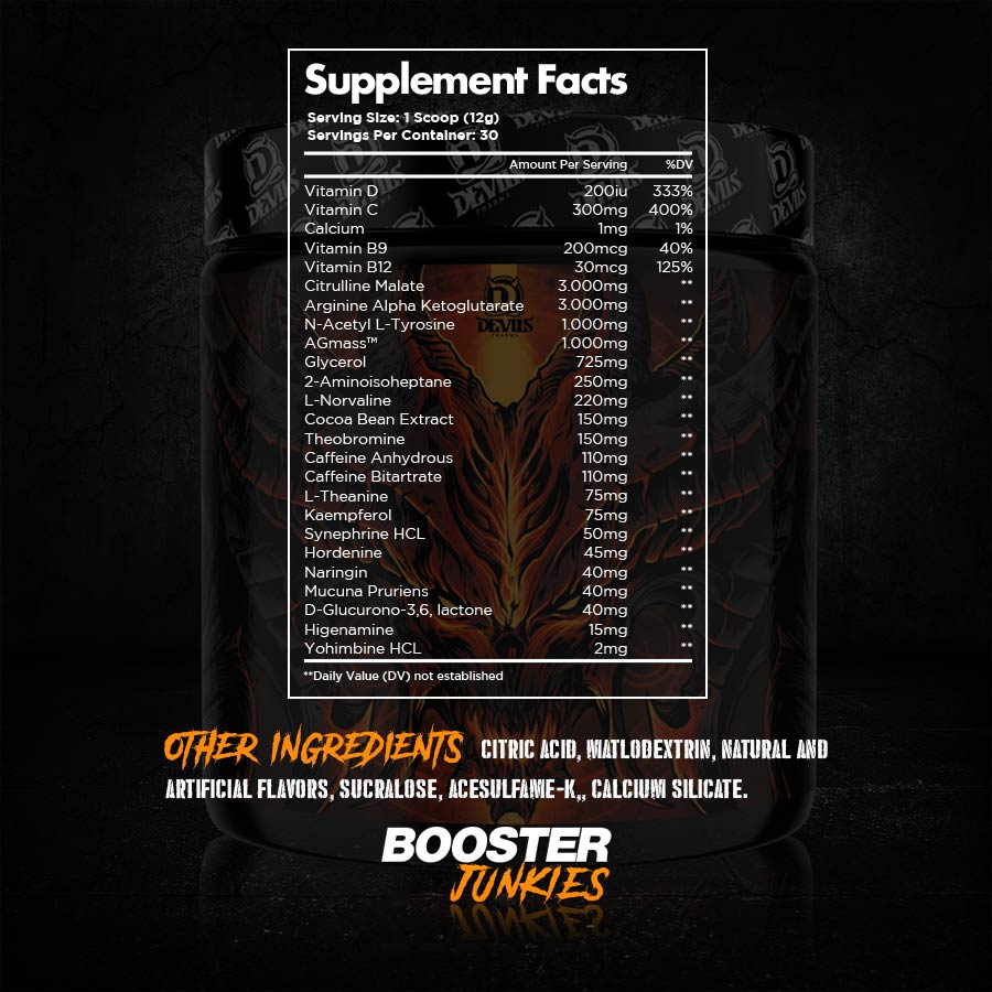 Devils Work Supplements Facts